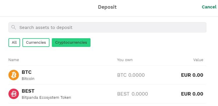 innskud crypto