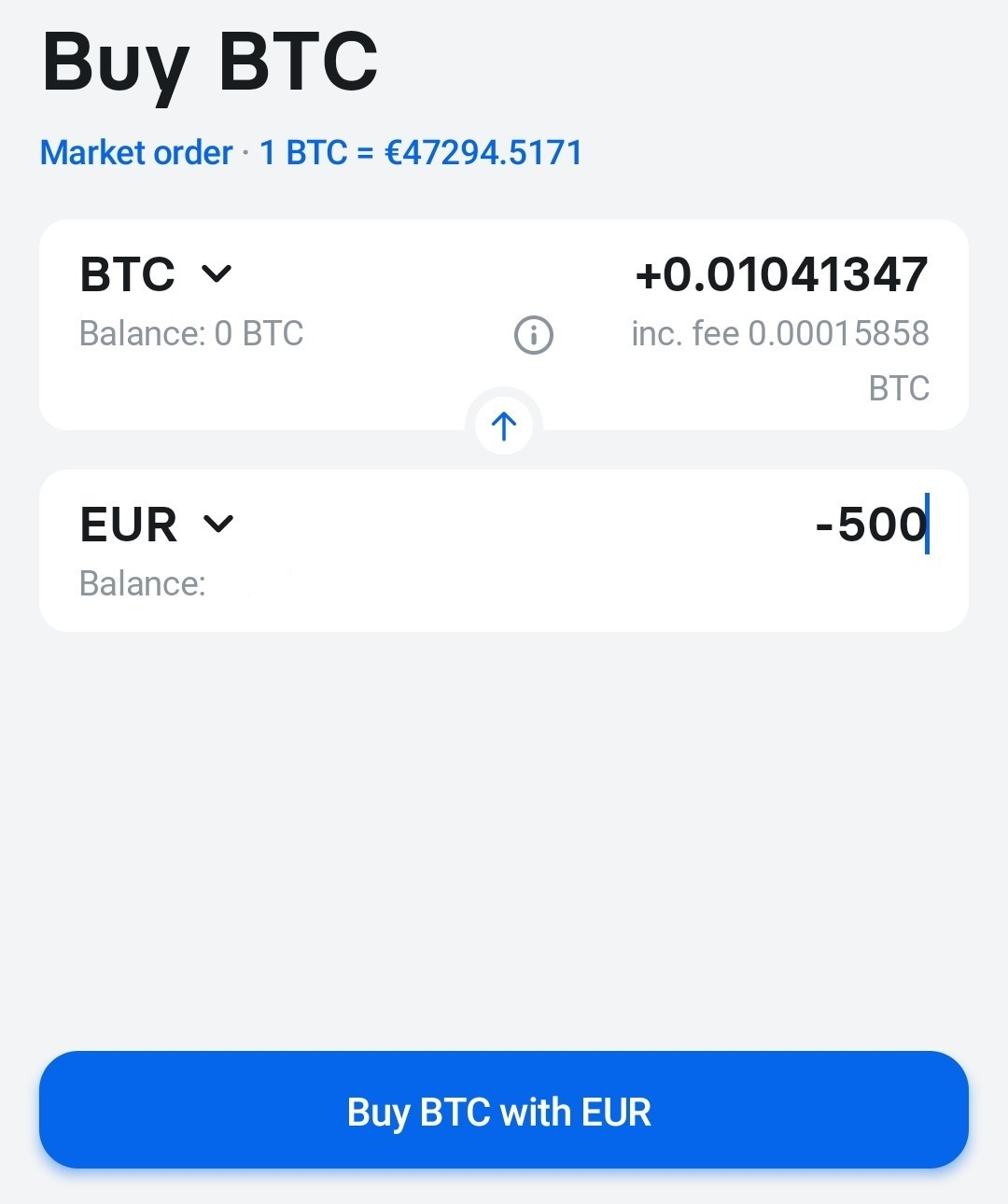 kjøp bitcoin med Revolut app