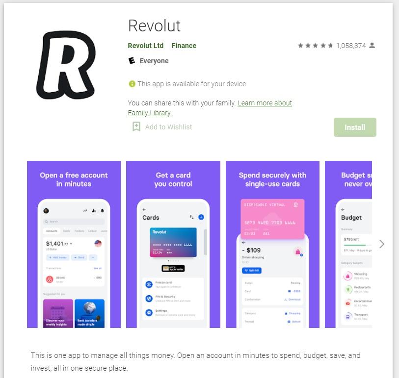 revolut google play