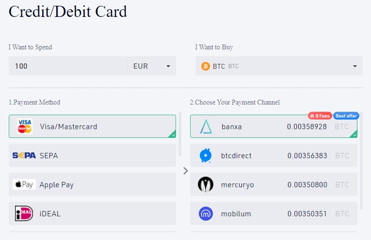 kjøp med kredittkort